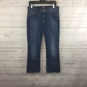 7 For All Mankind Crop Flare Jeans Size 30 Blue